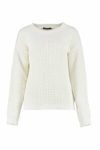 Womens Oversized Vintage Jumper - white - L, White