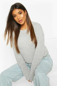 Womens Oversized Vintage Jumper - grey - L, Grey