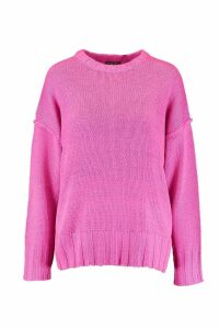 Womens Oversized Jumper - pink - S, Pink