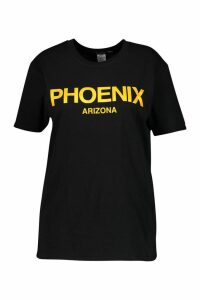 Womens Plus Phoenix Oversized T-Shirt - black - 18, Black