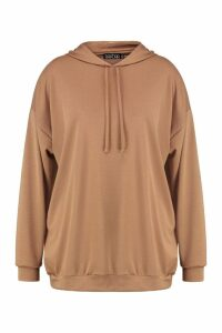 Womens Plus Oversized Hoody - Beige - 18, Beige