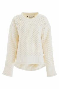 Jil Sander Perforated Wool Pullover
