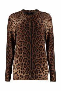 Dolce & Gabbana Printed Cachemire Sweater