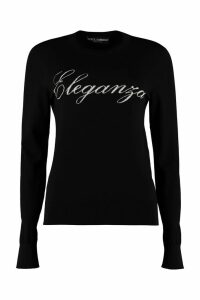 Dolce & Gabbana Intarsia Wool Crew-neck Pullover