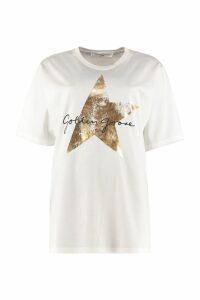 Golden Goose Hoshi Printed Cotton T-shirt