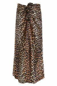 Ganni Leopard Print Skirt