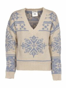 SEMICOUTURE Jacquard Pattern Sweater
