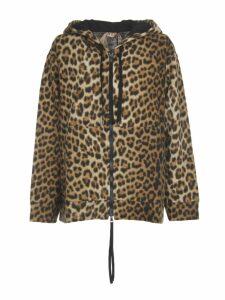 N.21 Leopard Faux Fur Sweatshirt