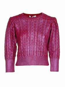 MSGM Fuchsia Cropped Sweater