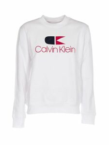 Calvin Klein White Sweatshirt With Logo