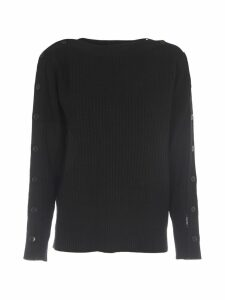 Calvin Klein Black Wool Sweater