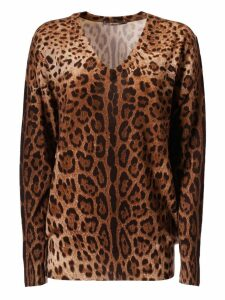 Dolce & Gabbana Leopard Print Sweater