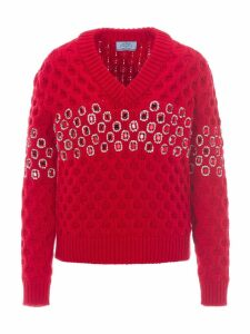 Prada Jewelled Knitted Jumper