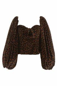 The Attico Leopard-printed Velvet Top