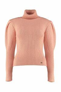 Elisabetta Franchi Celyn B. Ribbed Turtleneck Sweater