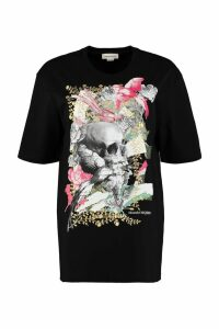Alexander McQueen Gilded Skull Print Cotton T-shirt