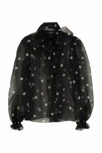 Dolce & Gabbana Polka Dot Silk Shirt