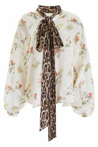R13 Floral-printed Silk Blouse