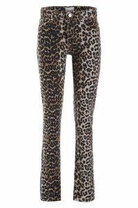 Ganni Leopard-printed Jeans