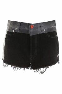 HERON PRESTON Coated Denim Shorts