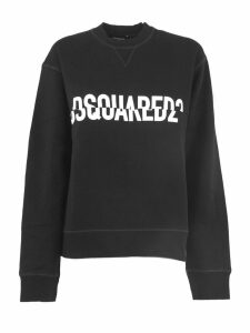 Dsquared2 Black Cotton Sweatshirt