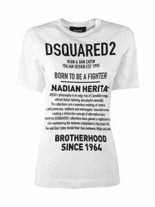Dsquared2 White Cotton T-shirt