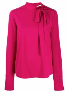 Be Blumarine L/s Bow Blouse