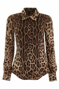 Leopard-printed Shirt