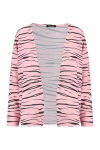 Womens Short Zebra Kimono - Pink - S, Pink