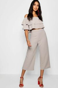 Womens Double Bandeau Top & Culotte Co-Ord Set - grey - 14, Grey