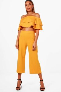 Womens Double Bandeau Top and Culotte Co-ord - Orange - 12, Orange
