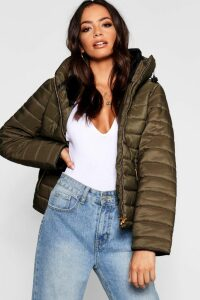 Womens Quilted Jacket - Green - Xl, Green