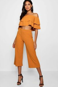 Womens Double Bandeau Top and Culotte Co-ord - orange - 10, Orange