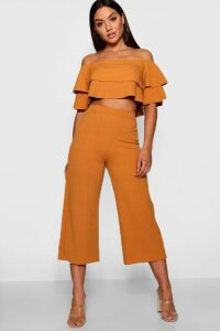 Womens Double Bandeau Top & Culotte Co-Ord Set - yellow - 14, Yellow