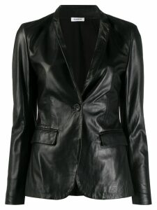 Parosh Leather+jersey Jacket