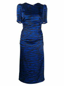 Parosh Printed Zebra Satin Dress