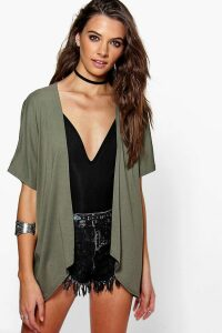 Womens Jersey Kimono - Green - S/M, Green