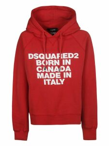 DSquared2 Born In Canada Print Hoodie