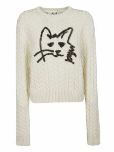 MSGM Cat Print Jumper