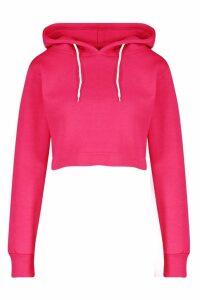 Womens Athleisure Oversized Crop Hoodie - Pink - M, Pink