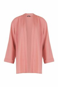 Womens Linen Look Oversized Kimono - orange - M/L, Orange