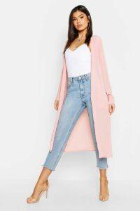 Womens Pocket Detail Kimono - pink - L, Pink