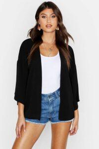 Womens Chiffon Kimono - Black - M/L, Black