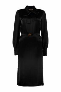 Tory Burch Belted Satin Dress