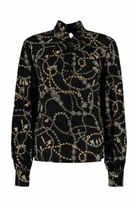 Pinko Complici Printed Georgette Blouse