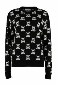 Moschino Teddy Bear Jacquard Knit Sweater