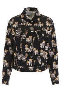 MSGM Cats Print Denim Jacket