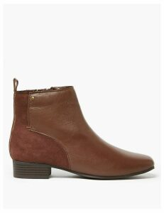 M&S Collection Leather & Suede Ankle Boots