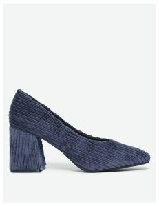 M&S Collection Corduroy Flared Block Heel Court Shoes