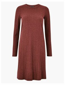 M&S Collection Ribbed Swing Dress